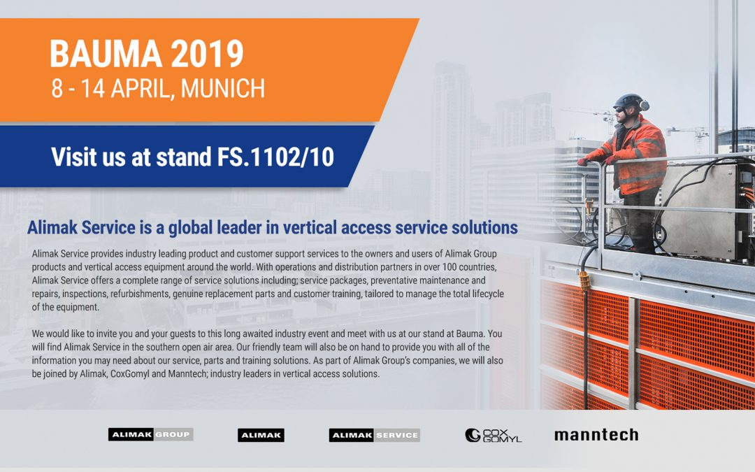 Come visit us at Bauma 2019 – 8-14 April
